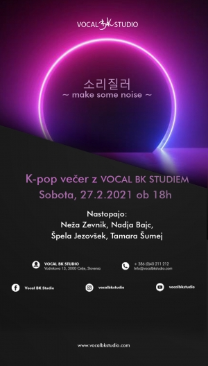 K-pop večer z Vocal BK Studiem